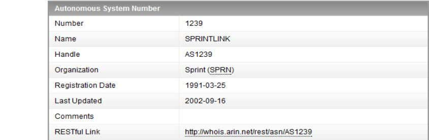a specific AS ‒ http://whois.arin.net/rest/asn/AS1239/pft BRKRST-3320 © 2012 Cisco and/or its affiliates. All rights
