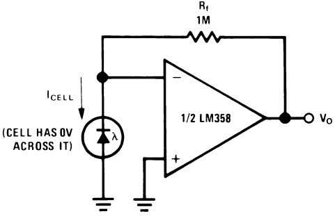 A V = 2 Figure 34. DC Coupled Low-Pass RC Active Filter Figure 36. Photo Voltaic-Cell