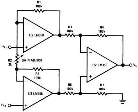 Typical Applications (continued) (V + = 5.0 V D C ) Figure 44. High Input Z