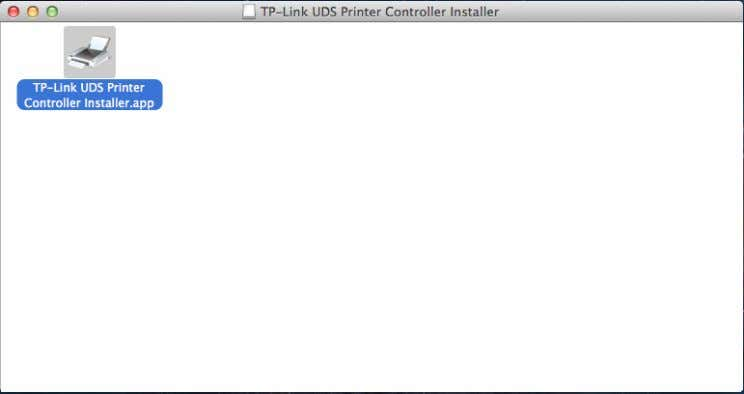 Double-click the TP-Link UDS Printer Controller Installer.app in the window that pops up. Installation for Mac
