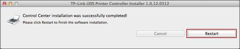 OS 4 . Click Install to start the installation process. 5. Click Restart to finish the