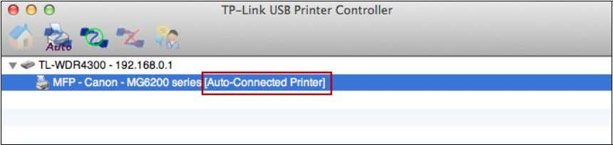 setting, you will see the printer marked as Auto-Connect Printer . Then you can execute your