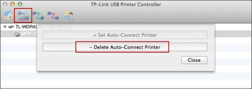 drop-down list of the tab Auto-Connect for Printing . Method Two: 1. Go to Tools->Auto-Connect Printer