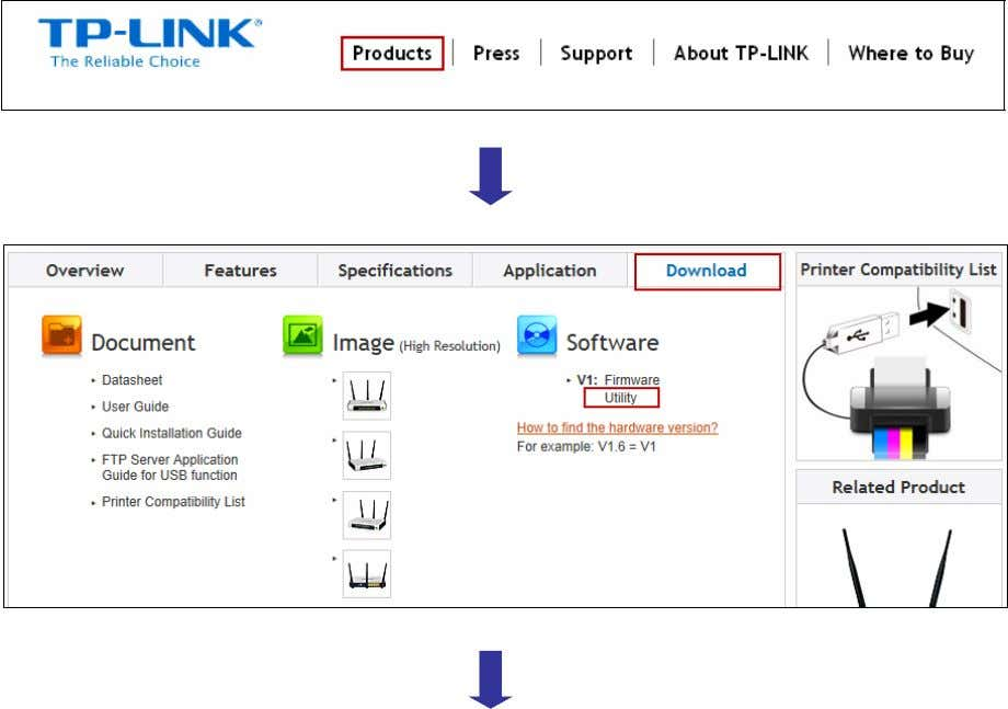 . Then next web page will be loaded, where you can select the USB Printer Controller_Utility