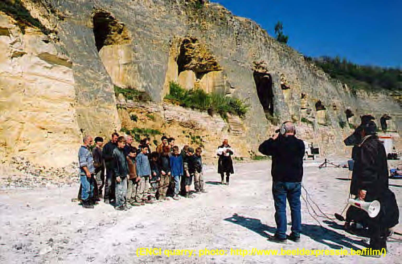 (ENCI quarry; photo: http://www.beeldexpressie.be/film/)