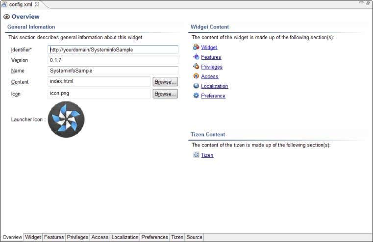 Chapter 4: Piecing Together the Application Jigsaw 5 3 Figure 4-3: The Configuration Editor. The items