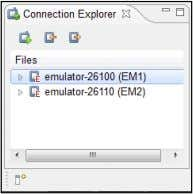 Emulator instance is highlighted in the Connection Explorer, as shown in Figure 5-6. Figure 5-6: The