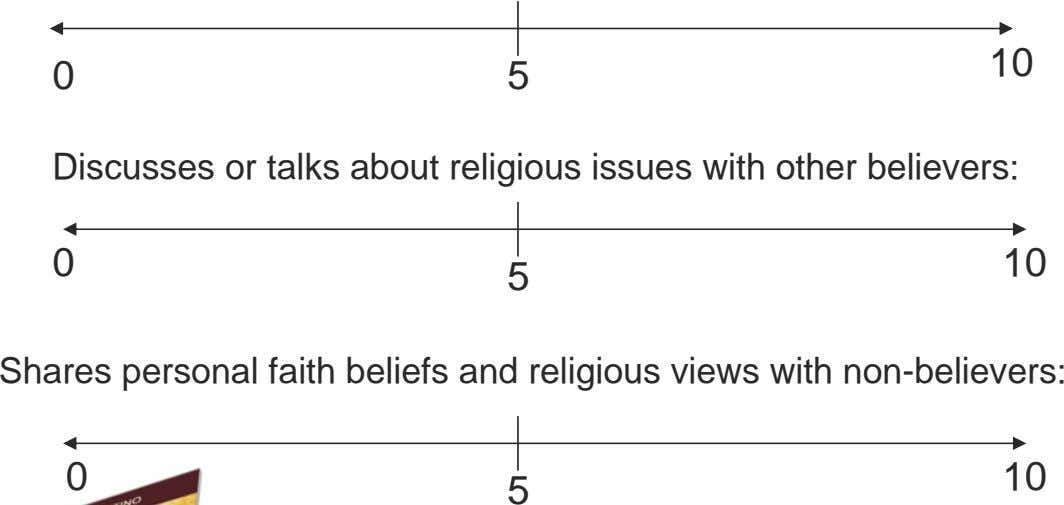 10 0 5 Discusses or talks about religious issues with other believers: 0 10 5