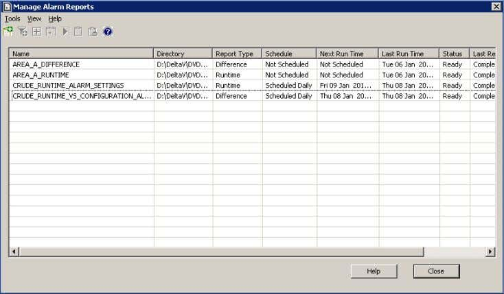 and functional classification (ex: Safety related alarms). Alarm audit reports can be saved, scheduled and directed