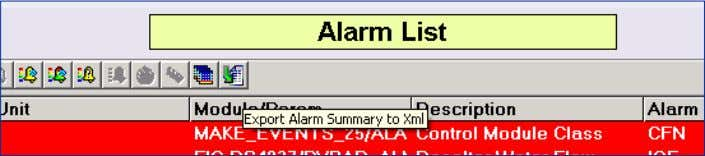 alarm information, built into every DeltaV Alarm list. A native alarm list feature allows users or