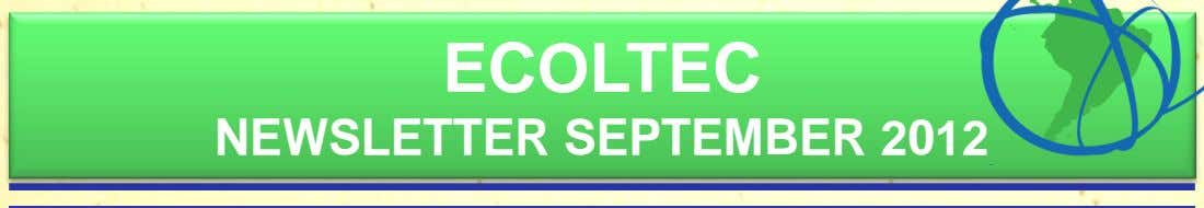 ECOLTEC NEWSLETTER SEPTEMBER 2012
