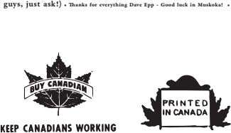 guys, just ask!) • Thanks for everything Dave Epp - Good luck in Muskoka! •