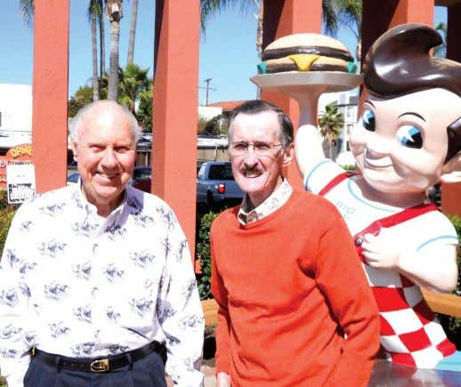 Alex and the late Dick Van Cleve in front of the legendary Bob's Big Boy
