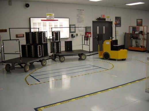 5S Example: Organized Traffic Flow Tow motor route controlled through floor markings. VWM