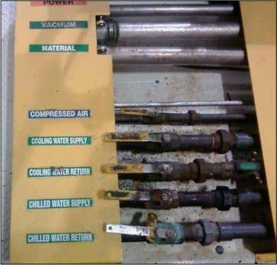 Standardize Various plumbing going in a nd coming out of machinery. VWM