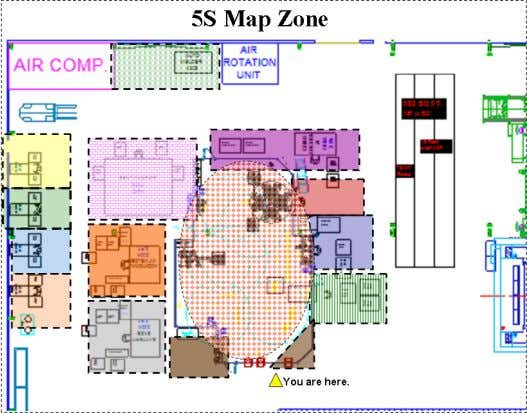 Responsibility Areas Designated with 5S map