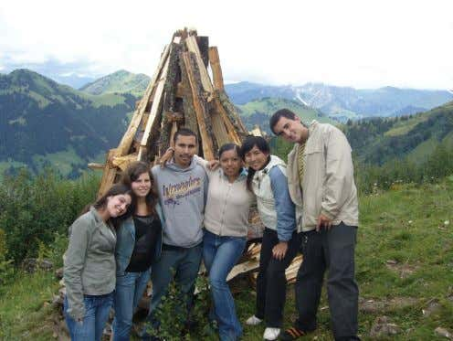 2) Built a tipee (this is the Swiss tradition!) 3) Ate CHEESE FONDUE! It was so