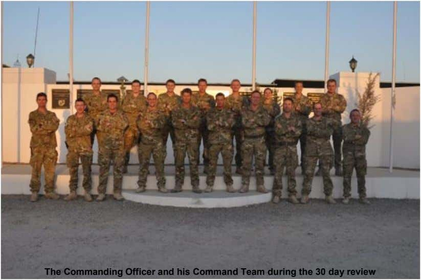 The Commanding Officer and his Command Team during the 30 day review