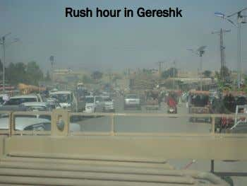 Rush hour in Gereshk