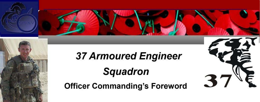 37 Armoured Engineer Squadron Officer Commanding's Foreword