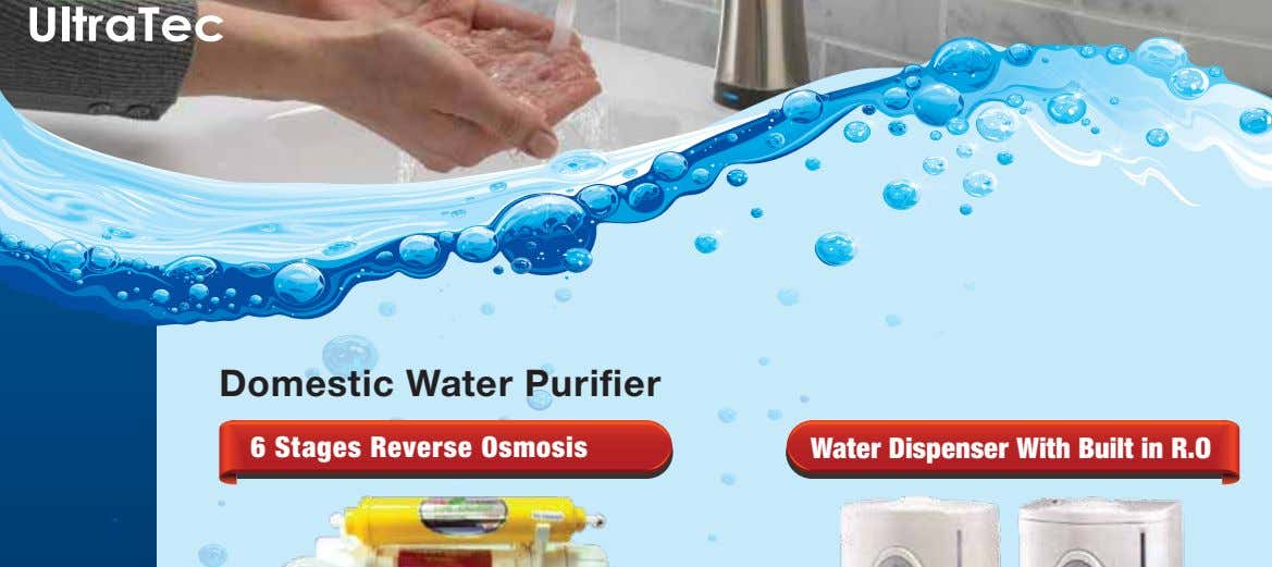Domestic Water Purifier 6 Stages Reverse Osmosis Water Dispenser With Built in R.O