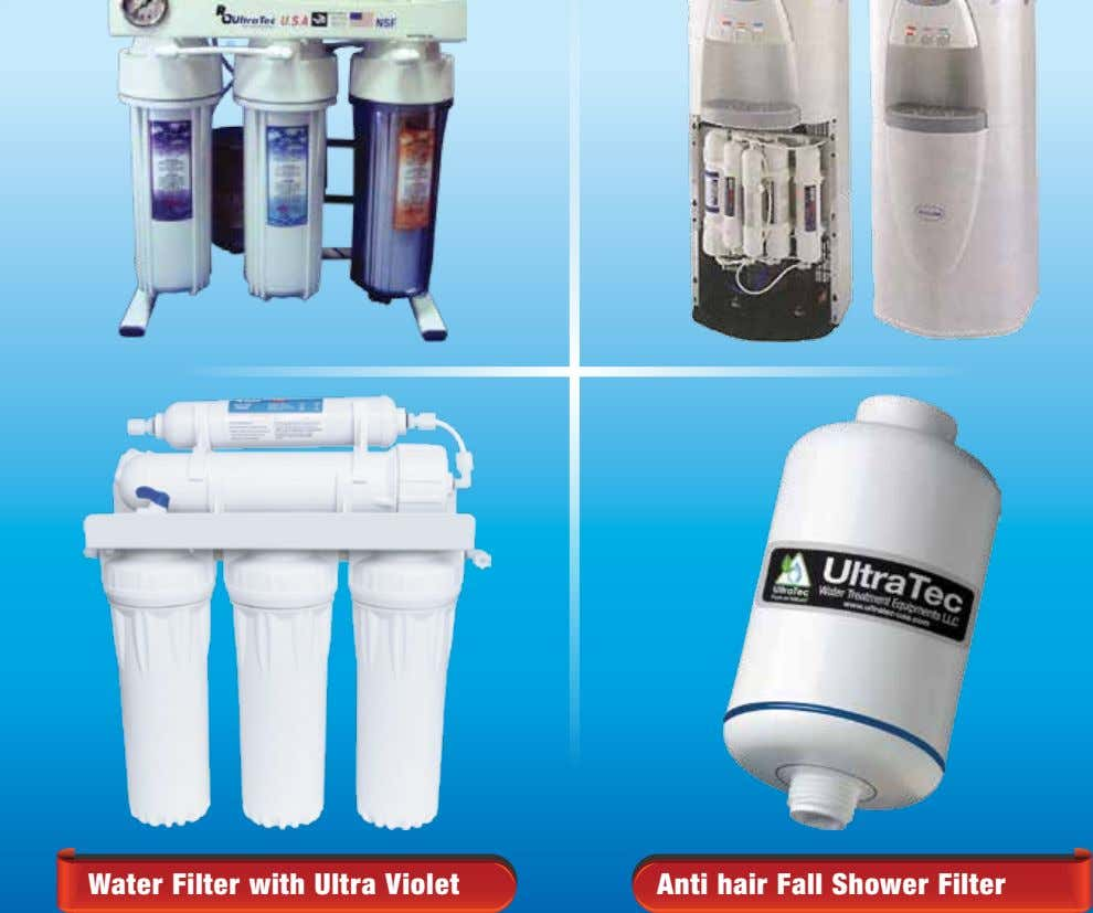 Water Filter with Ultra Violet Anti hair Fall Shower Filter