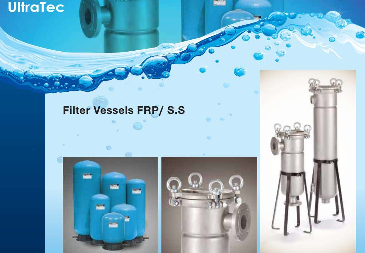 Filter Vessels FRP/ S.S