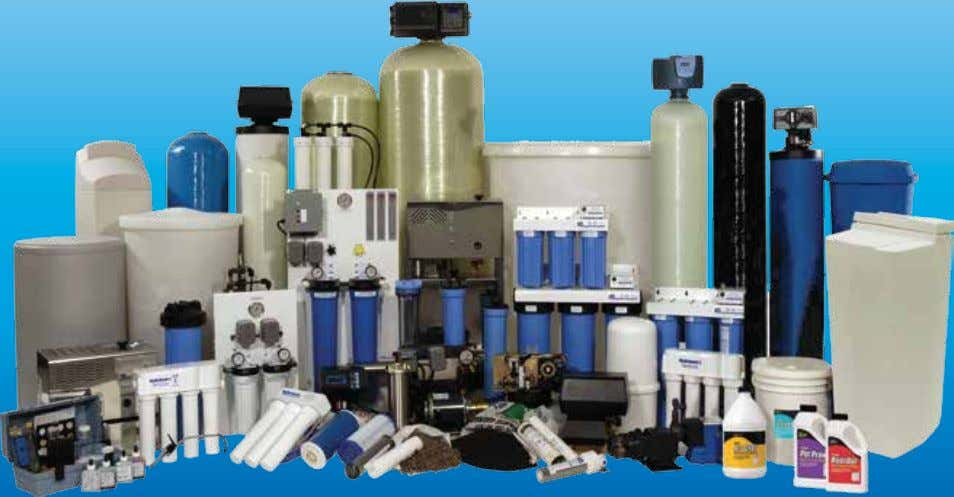 innovative Water Treatment products that purify the water we drink, the water we use in all