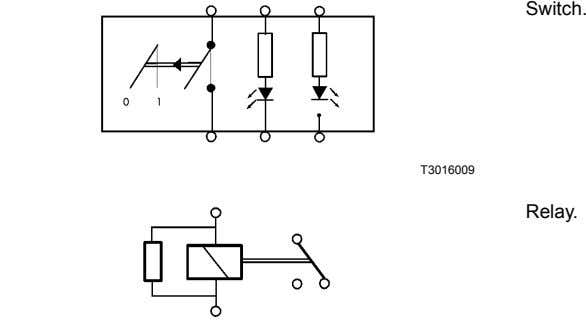Switch. T3016009 Relay.
