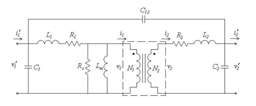 over a nominal frequency range of 20 Hz to 20 kHz [11]. Figure 2.4 Equivalent circuit