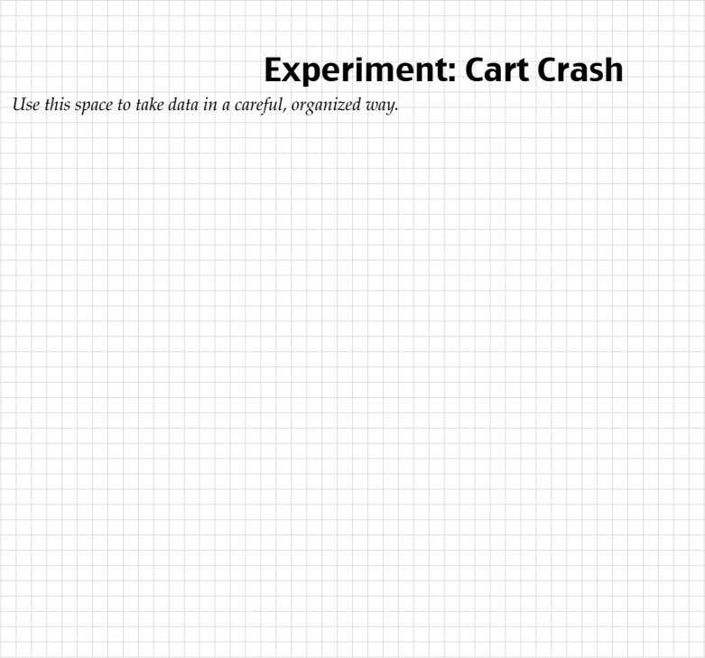 organized way. Cart Crash Physics! / Unit III / MTM from Modeling Workshop Project © 2006