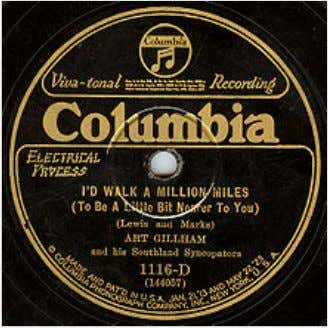Thelabelofanelectricallyrecorded Columbiadiscby ArtGillham from themid­twenties