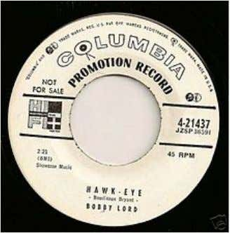 "Transitional1955promo45r.p.m. labelshowingboththeold""notesand mike""andnew""walkingeye""logos"