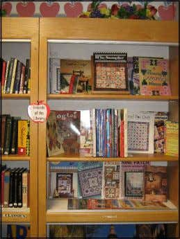 year), Adult Fiction sales are well over two thousand items. MORE BOOKS! Our prices are excel-