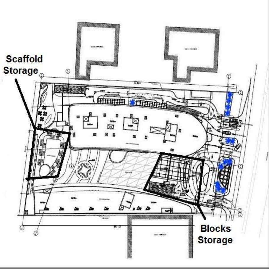 3. Provide adequate working areas, storage areas and stores: Fig (2.11) Storage Area •Our site area