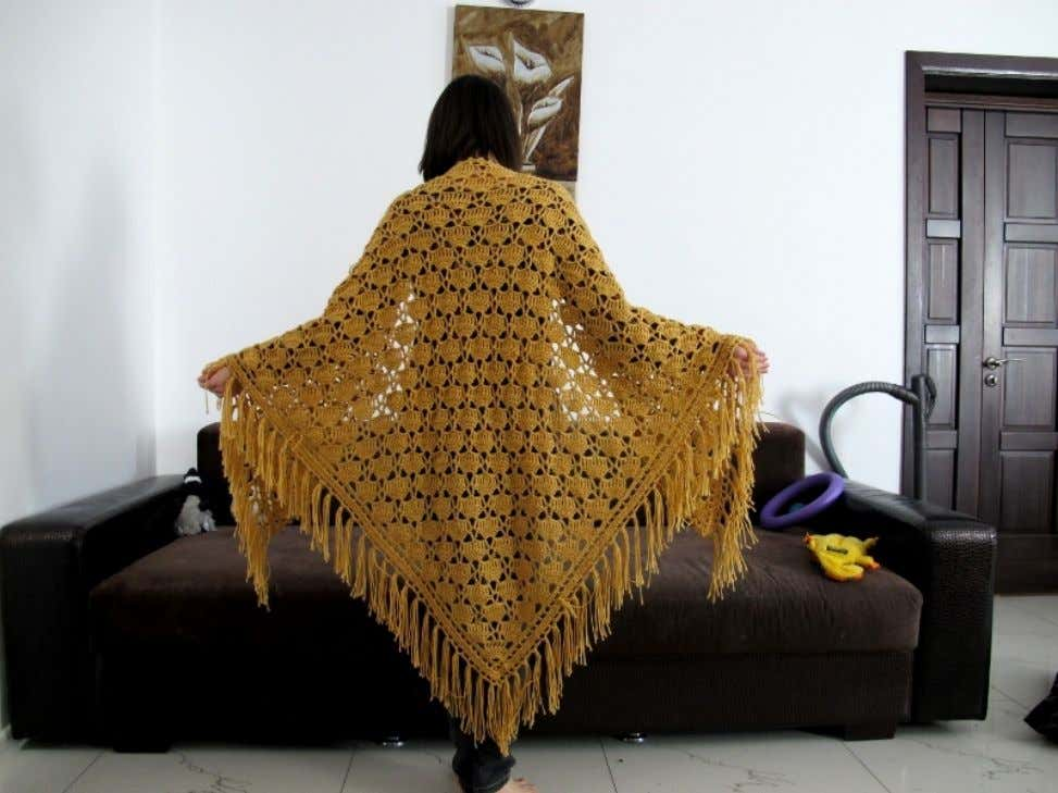 Fairy Tail. This is modified version of vintage shawl pattern, popular in USSR in 70-80
