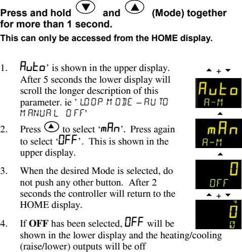 ▼ ▲ Press and hold and (Mode) together for more than 1 second. This can