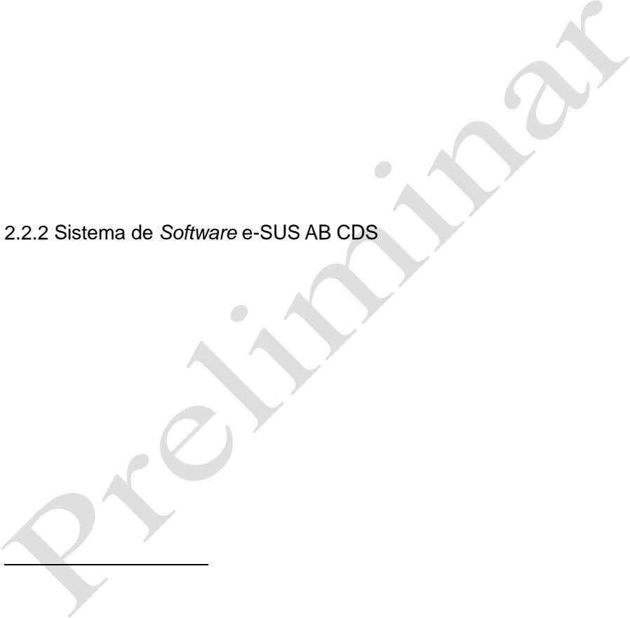 2.2.2 Sistema de Software e-SUS AB CDS