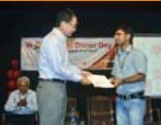 from Mr. Yoshihiro Kimura, Chairman, TERUMO PENPOL Limited First Prize -College Mahipal Singh Gunjar, College of