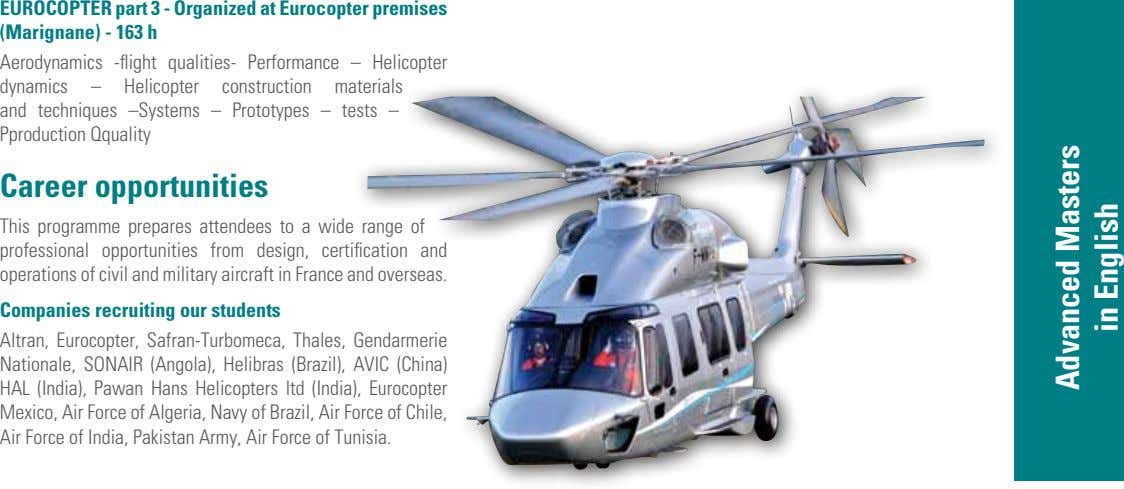 EUroCoPtEr part 3 - organized at Eurocopter premises (Marignane) - 163 h Aerodynamics -flight qualities-