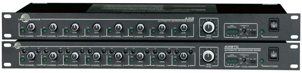 INSTRUCTION MANUAL AM8 and AM8TC 8 Channel Automatic Mixer Fill in for your records: Serial Number: