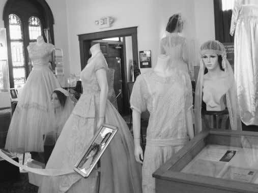 These dresses are part of the Katubah and Wedding Dress Exhibit on display until March