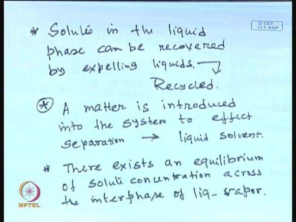 and you know recover solutes. (Refer Slide Time: 30:33) The solutes in the liquid phase can