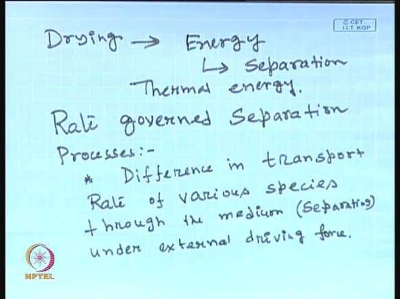 or chemical adsorption. (Refer Slide Time: 42:13) Another example of equilibrium Governed process is drying,