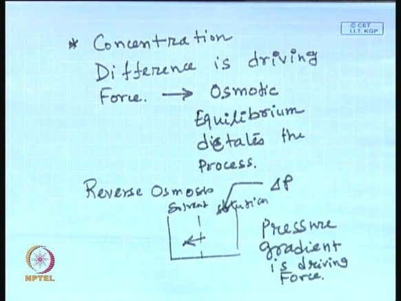 (Refer Slide Time: 51:37) So, in this case the concentration difference is the driving force and