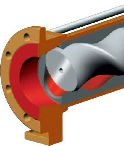 diameter, hence, lower sliding velocity and friction rate ● Shaft seal area excellently acces- sible due