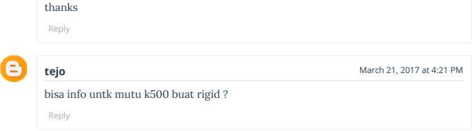 thanks Reply tejo March 21, 2017 at 4:21 PM bisa info untk mutu k500 buat