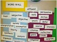 Classroom Implementation Interactive Word Walls