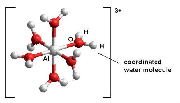 Stability of complexes of metal ions in aqueous solution. Metal ions in aqueous solution exist as