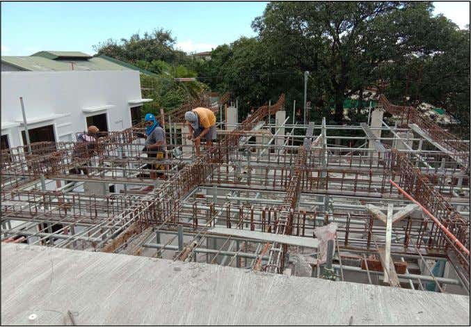 PROGRESS PHOTOS ( as of 19 January 2019) Fig.1. Showing installation of rebars for beams at